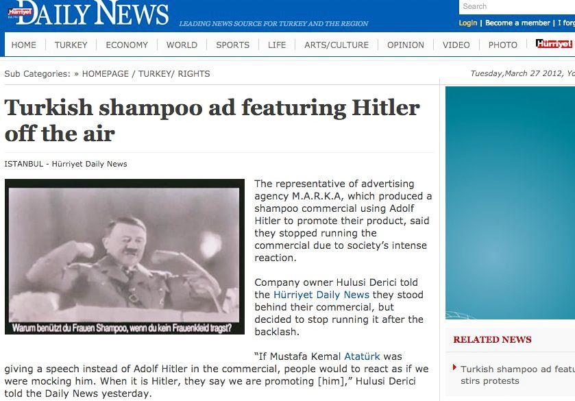 EINMALIGE VERWENDUNG Hürriyet Daily News / Screenshot