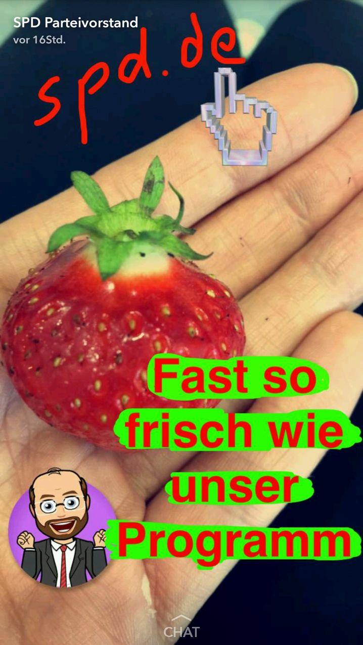 Screenshot ZITAT! Snapchat/ Wahlkampf