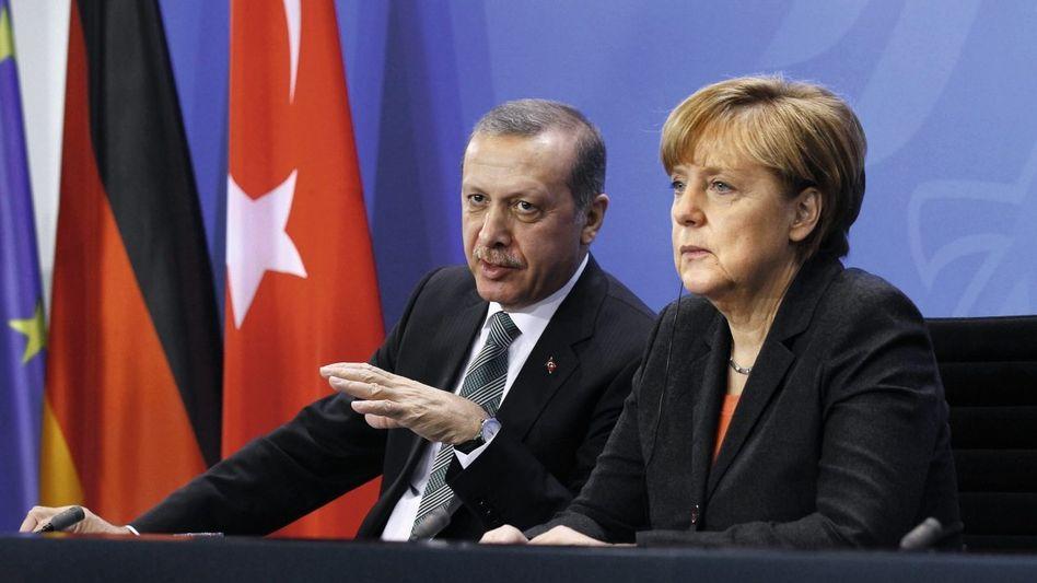 Verhandlungspartner Erdoğan, Merkel