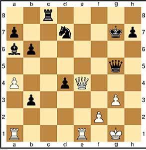 Zug 30, schwarz: ..cxb3. Deep Fritz hat sich ausgerechnet, dass der Angriff nicht gefährlich ist und erobert einen wichtigen Bauern.