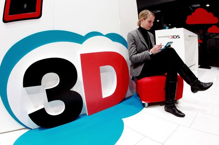 Stand mit 3-D-Spielen: Die dritte Dimension ist nicht nur zur Unterhaltung gut