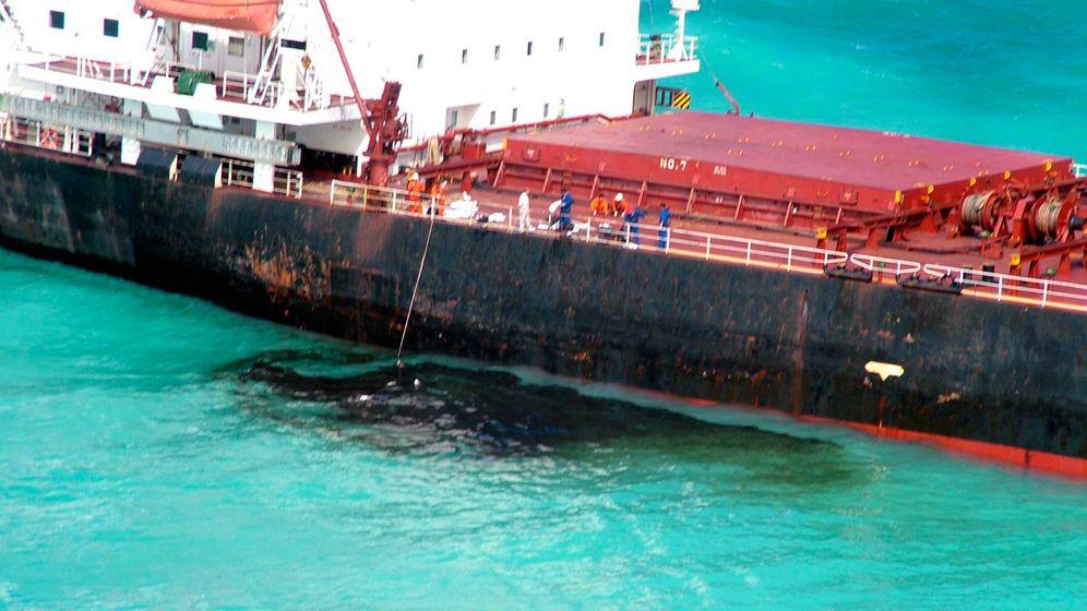 Havarie am Riff: Weltnaturerbe in Gefahr