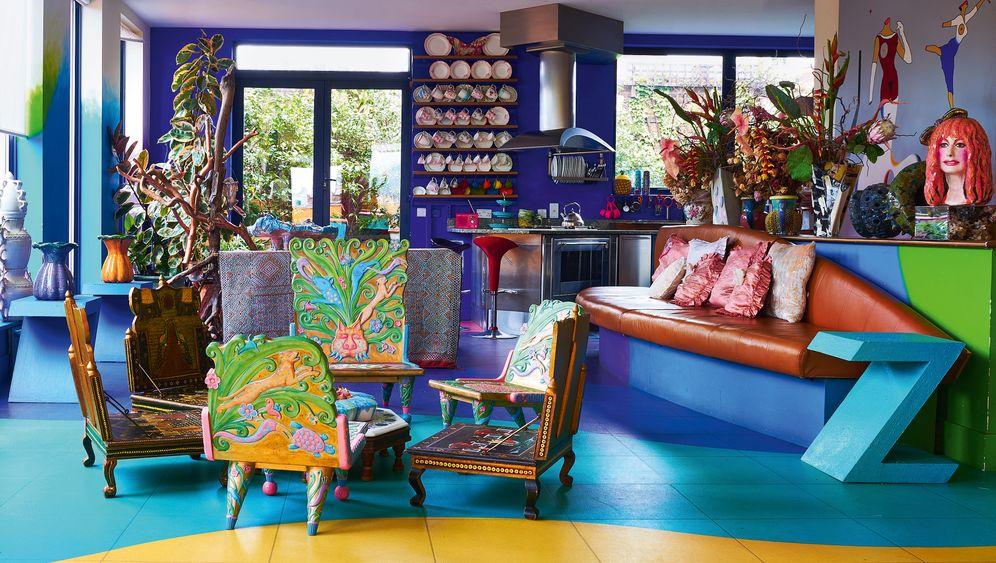 """Das """"Rainbow Penthouse"""" der Londoner Modedesignerin Zandra Rhodes"""