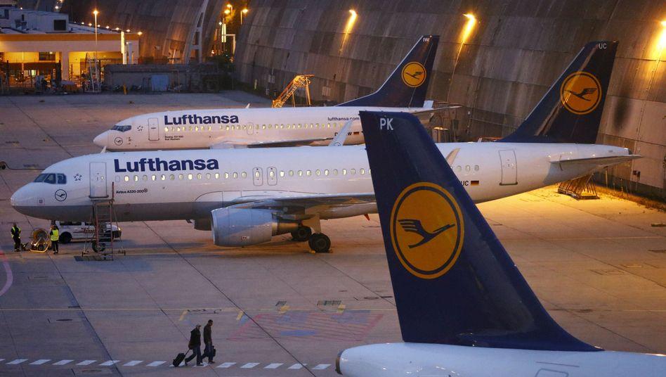 Lufthansa-Maschinen in Frankfurt am Main: Der nächste Streik kommt