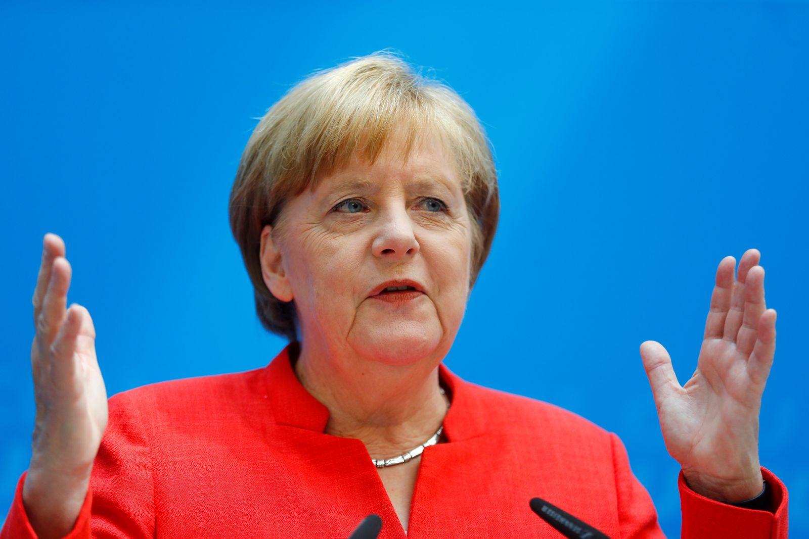 EINMALIGE VERWENDUNG Angela Merkel