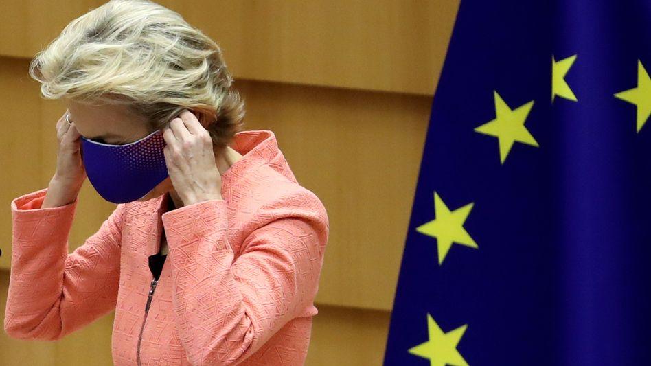 EU-Kommissionspräsidentin von der Leyen nach ihrer Rede zur Lage der EU: Klimaehrgeiz mit Rechentrick