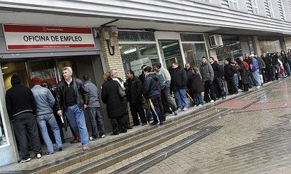 Looking for work: Young people are joining the queues at Europe's job centers.