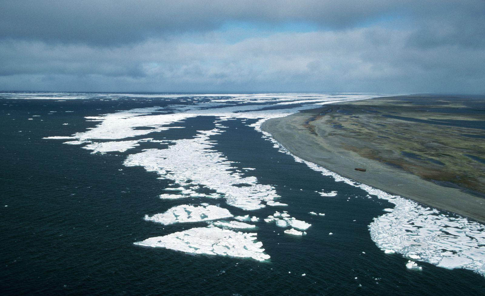 Frozen Waters Along a Siberian Coastline