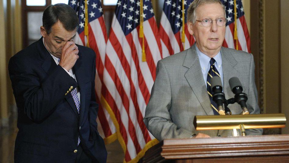 Sprecher des Repräsentantenhauses John Boehner, Senator McConnell: Daumen hoch?