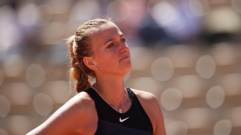 Petra Kvitová bei ihrem Erstrunden-Match in Paris
