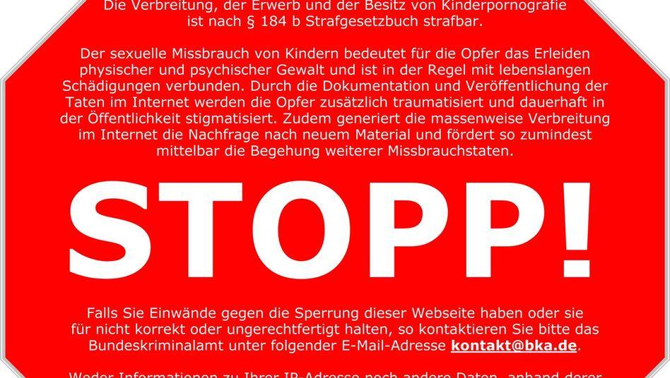 """Stoppschild: """"Das Internet darf kein rechtsfreier Raum sein"""""""
