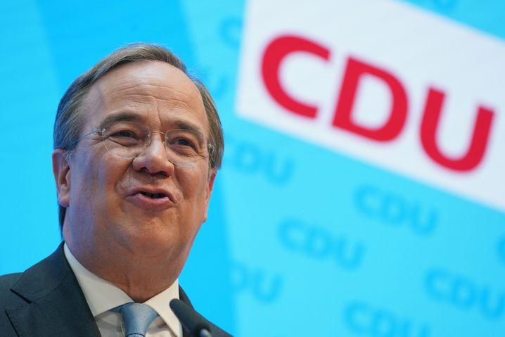 CDU-Chef Laschet bei Pressekonferenz nach dem Söder-Rückzug