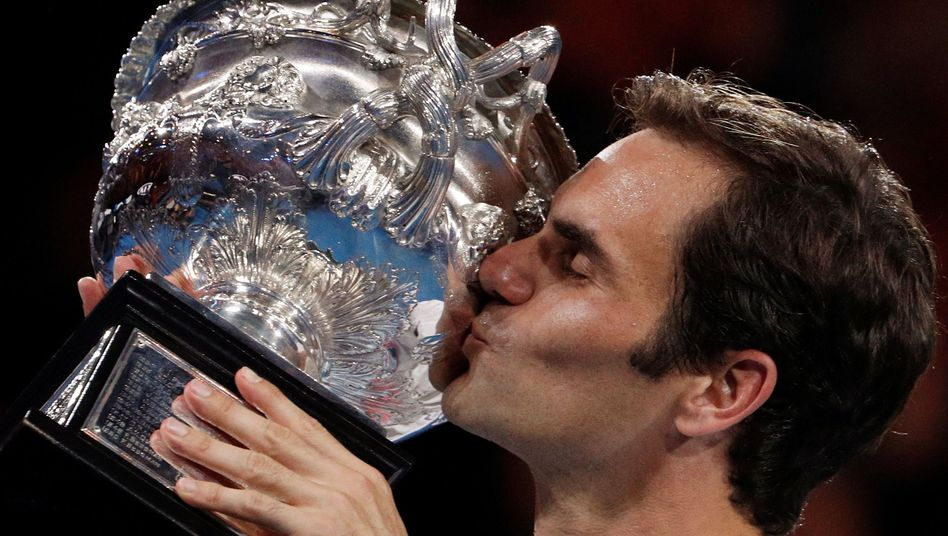 Australian-Open-Gewinner Roger Federer