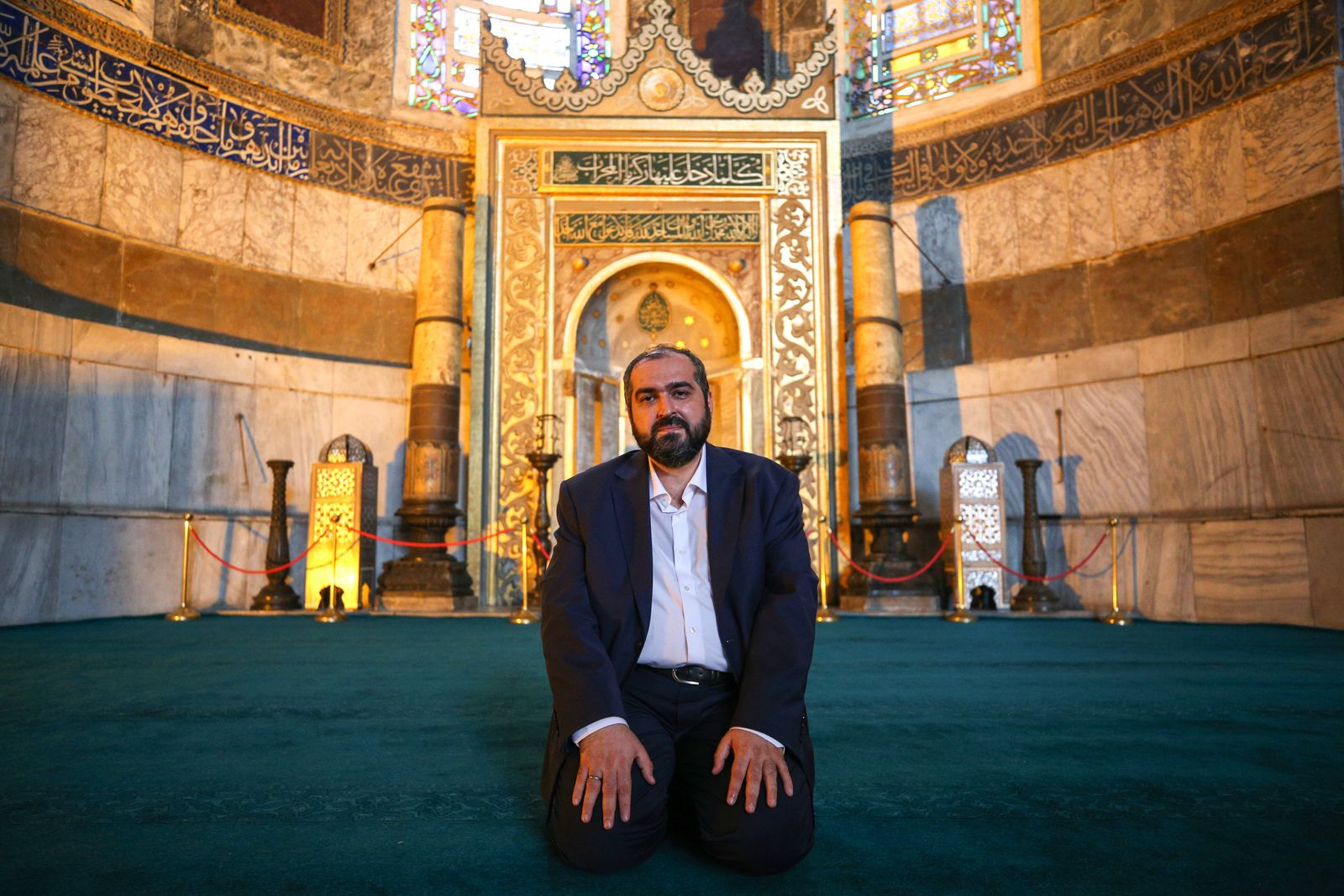 Newly appointed religious officials of Hagia Sophia Grand Mosque
