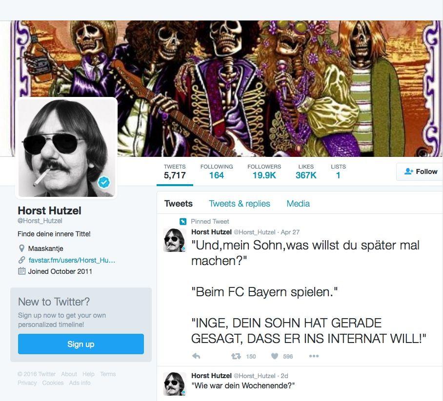 EINMALIGE VERWENDUNG Screenshot/ Horst Hutzel Twitter