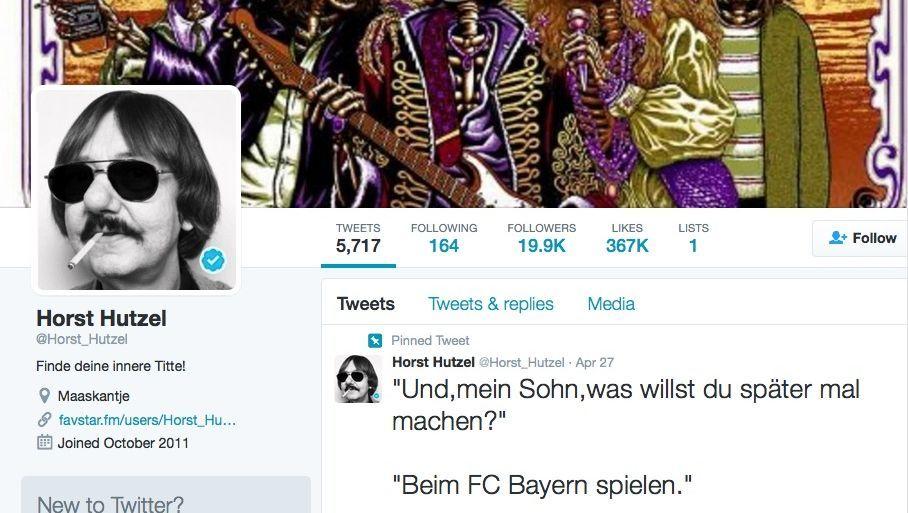 Screenshot des Twitter-Profils von Horst Hutzel