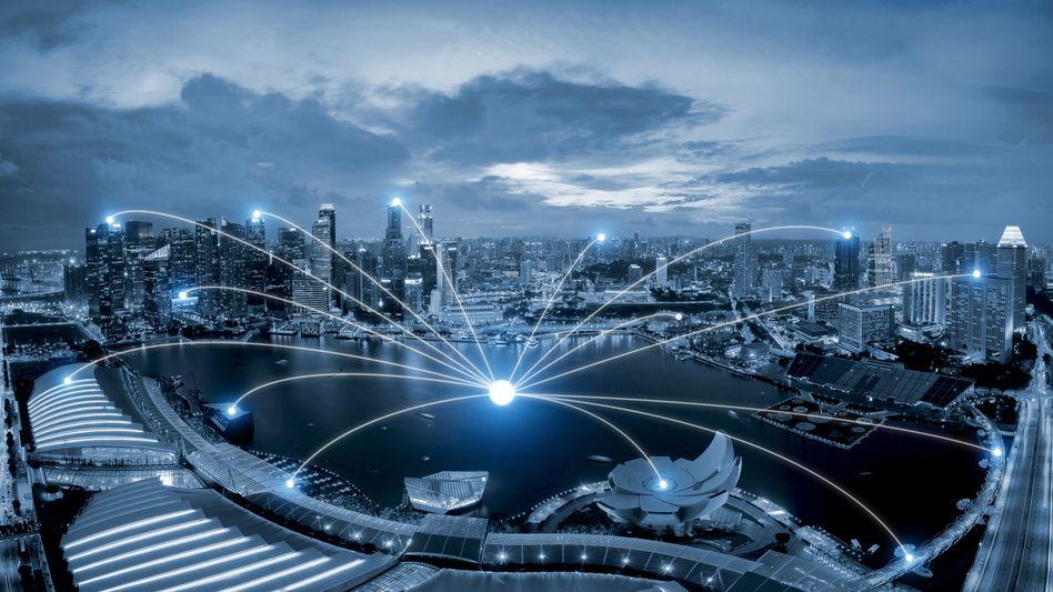 Vernetztes Singapur (Simulation)
