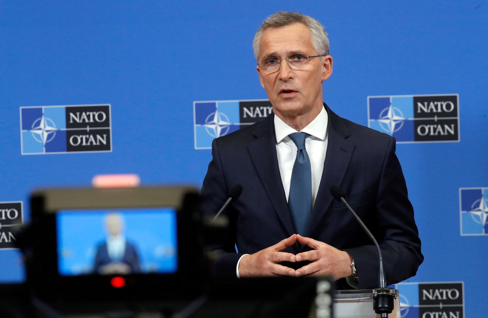 Press conference ahead of NATO Ministers of Foreign Affairs and Defence meetings in Brussels