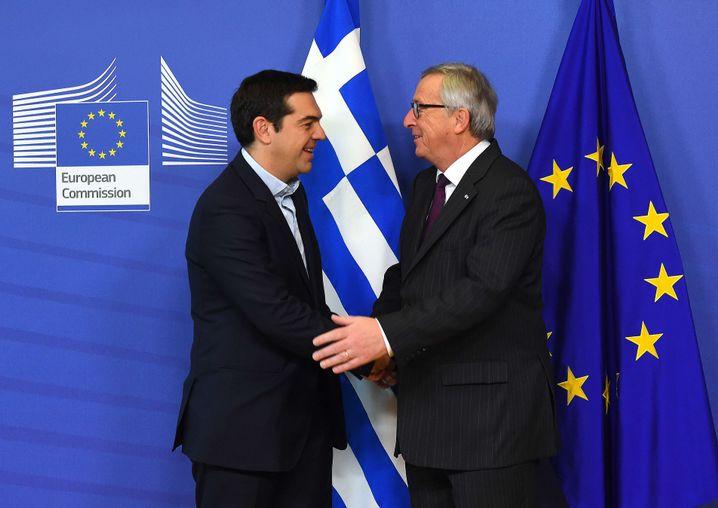 """Tsipras, EU-Kommissionschef Juncker: """"Wir achten die Regeln"""""""