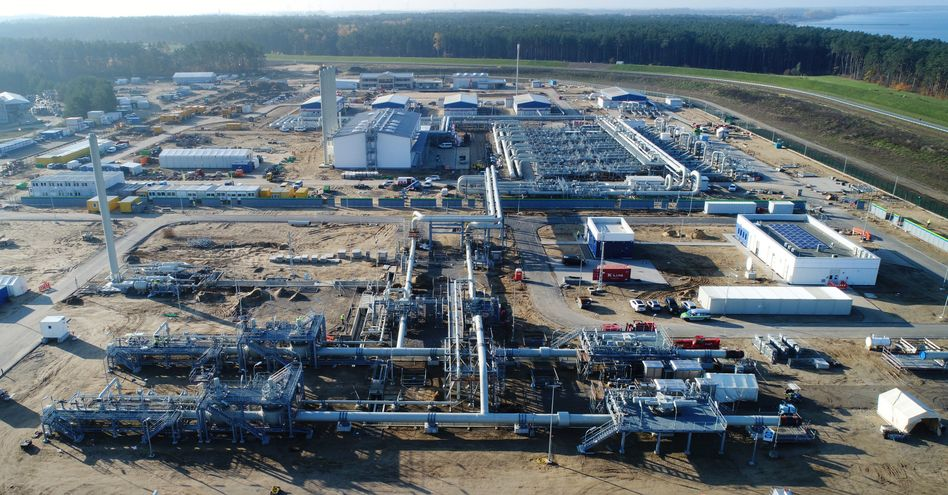 Baustelle der Empfangsstation für Nord Stream 2 in Mecklenburg-Vorpommern: Projekt sorgt für Ärger
