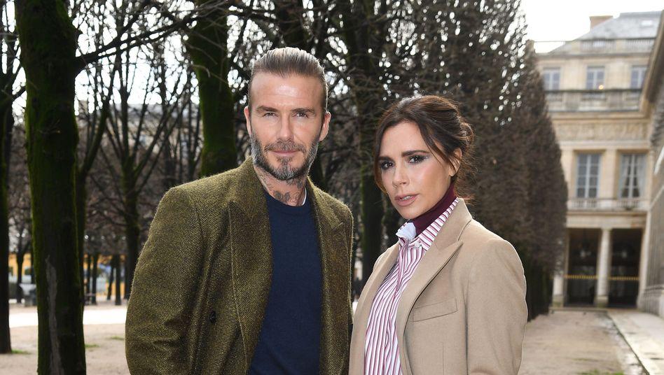 David und Victoria Beckham bei einer Fashion-Show in Paris