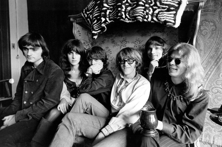 Rockband Jefferson Airplane 1968, Marty Balin ganz links