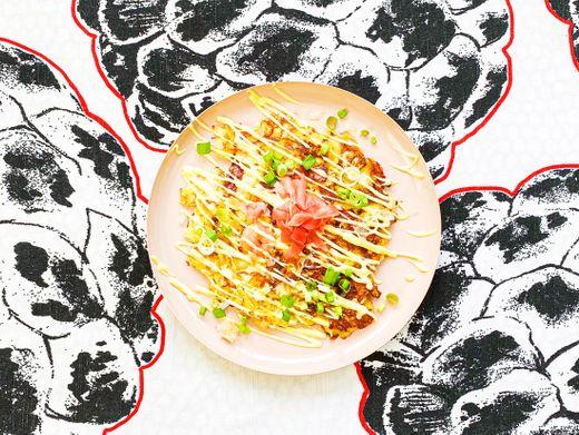 Okonomiyaki-Pfannkuchen