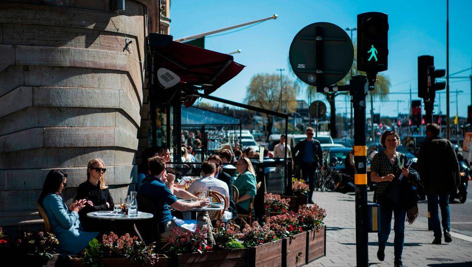 Voll besetztes Restaurant im schwedischen Stockholm