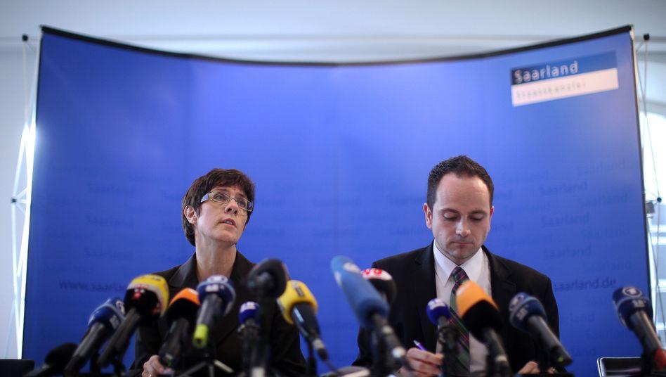 Regierungskrise im Saarland: Kramp-Karrenbauer will Große Koalition