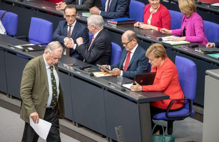 Gauland, Merkel