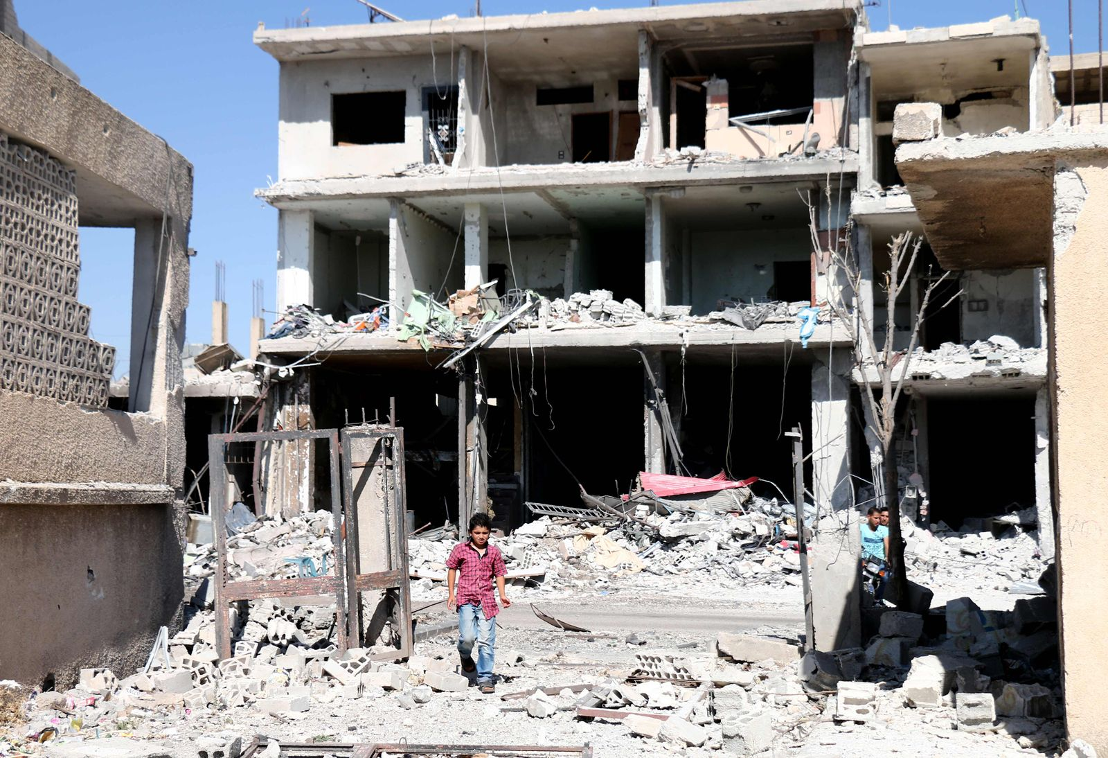 Syrien/ Nawa/ Deraa Luftschlägen