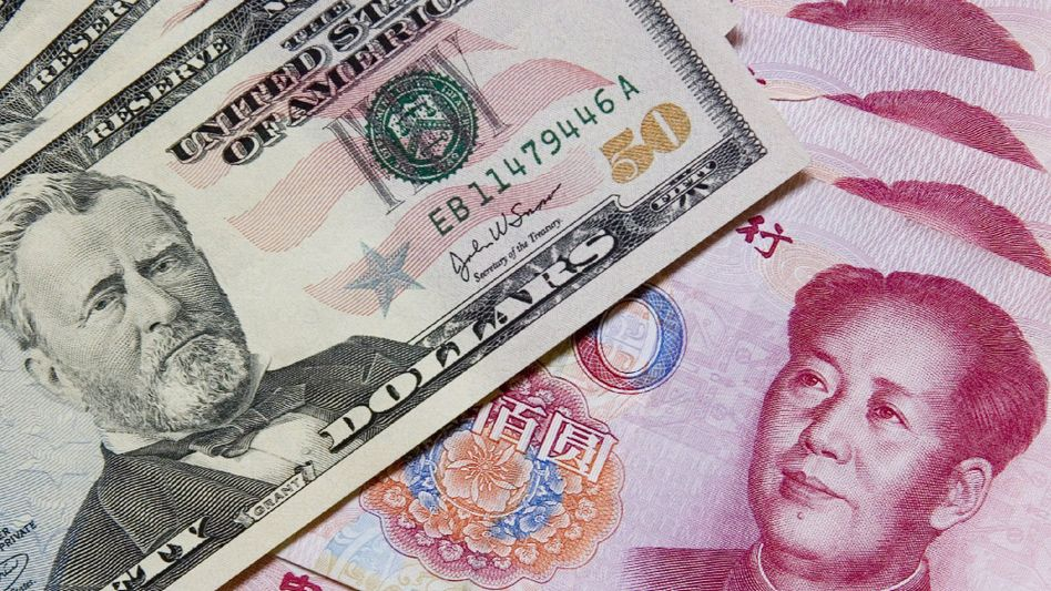 Dollar- und Yuan-Noten