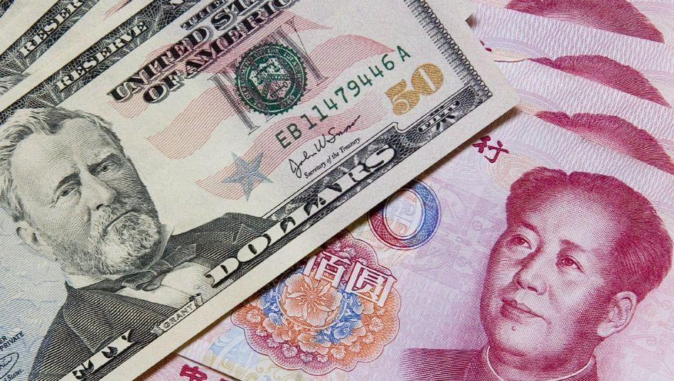 Yuan-Noten: Auch die USA sind ein beliebter Hafen für chinesisches Geld