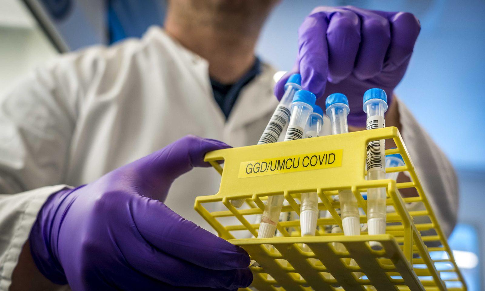 UMC Utrecht tests reliability of coronavirus rapid tests, Netherlands - 25 Sep 2020