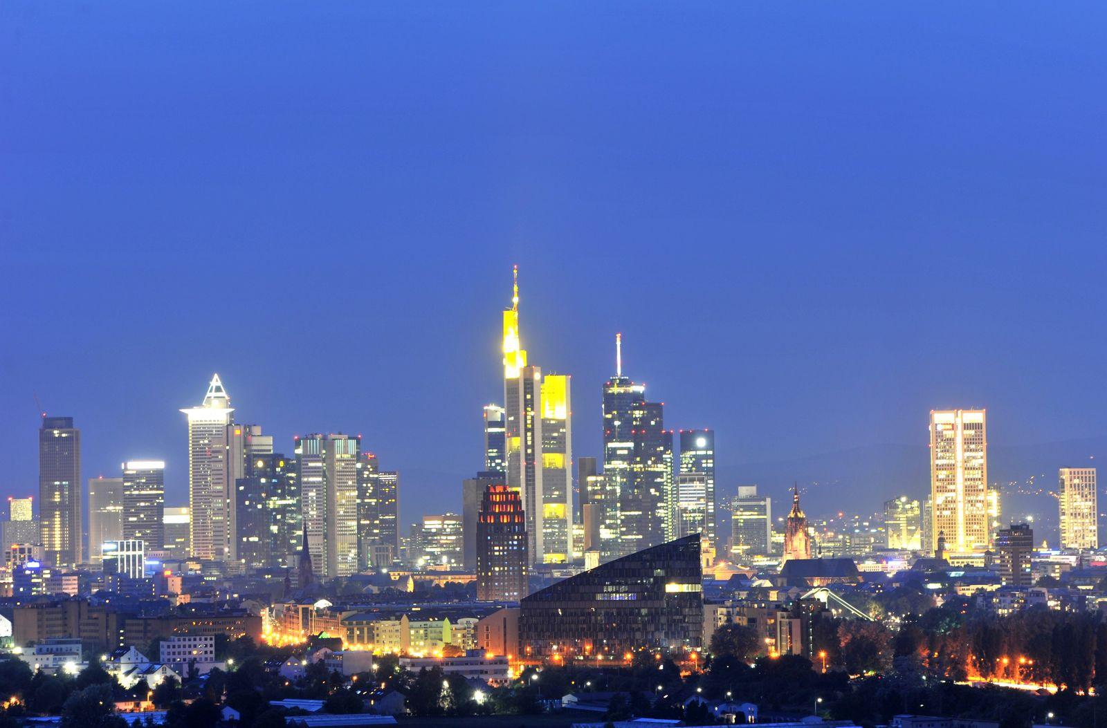 Bankenviertel Frankfurt Skyline