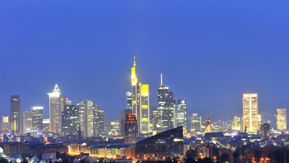 Frankfurter Skyline: Deutsche Banken haben beim Stresstest gut abgeschnitten