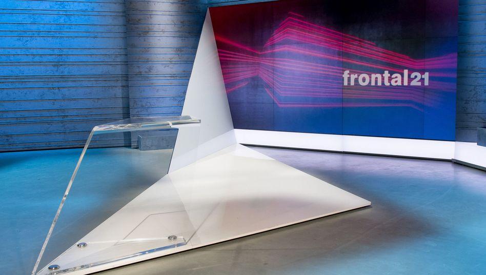 """Frontal 21""-Studio beim ZDF"