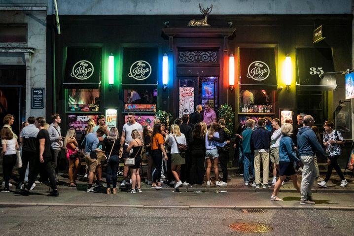 Die Ibiza Beach Bar in Kopenhagen am vergangenen Freitag