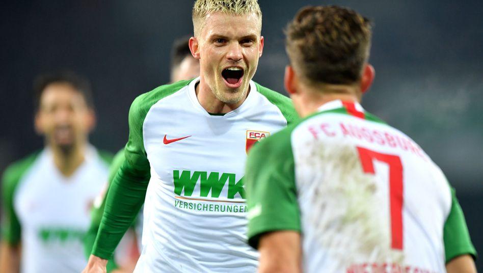 Doppeltorschütze Philipp Max vom FC Augsburg