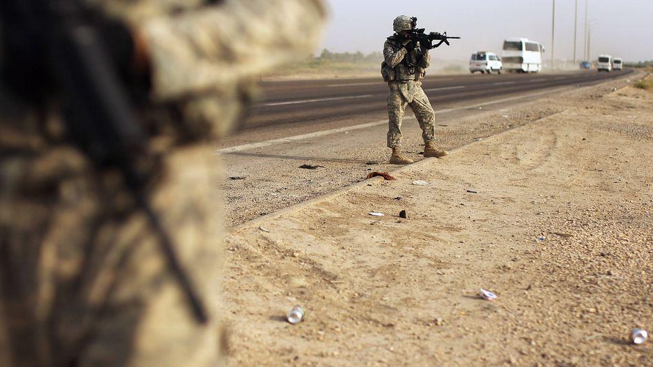 US-Soldaten im Irak: Der Beschluss des Parlaments allein sei nicht bindend