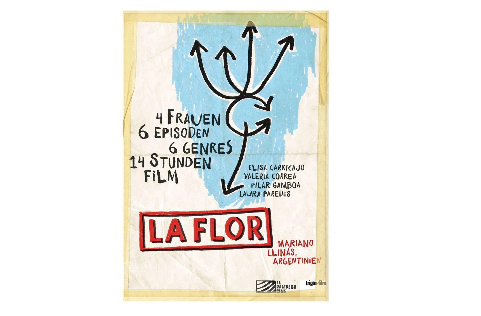EINMALIGE VERWENDUNG Filmszenen/ La Flor/ Plakat
