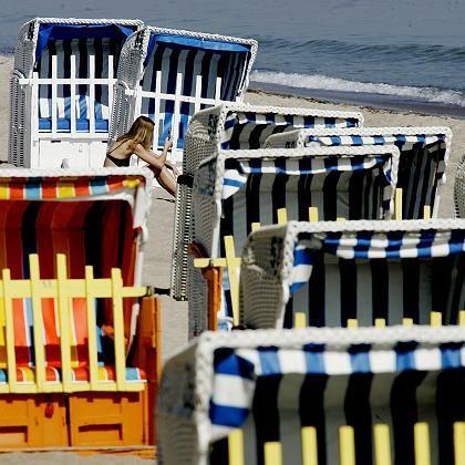 Strandkörbe an der Ostsee (Timmendorfer Strand): Weniger Regen im Sommer