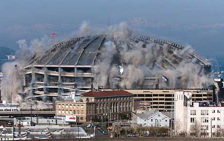 Sprengung des Kingdome in Seattle