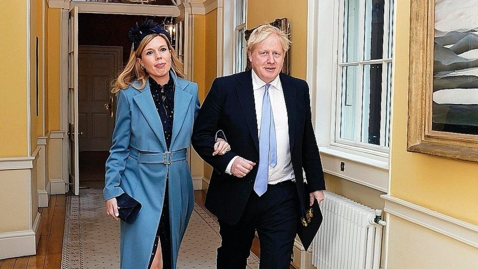 Premier Johnson, Verlobte Symonds in 10 Downing Street