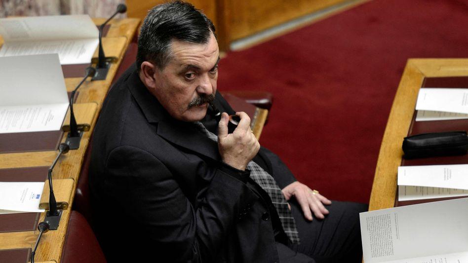 Christos Pappas 2015 im griechischen Parlament