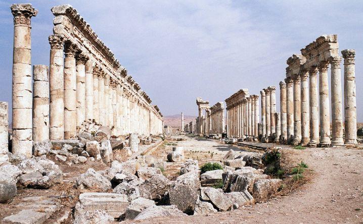 Die Ruinen von Apamea vor dem Krieg