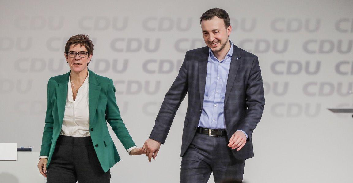 AKK und Paul Ziemiak beim CDU-Bundesparteitag