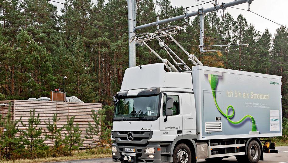 Elektrisch betriebener Lkw (Archiv): Weniger CO2 im Lastverkehr