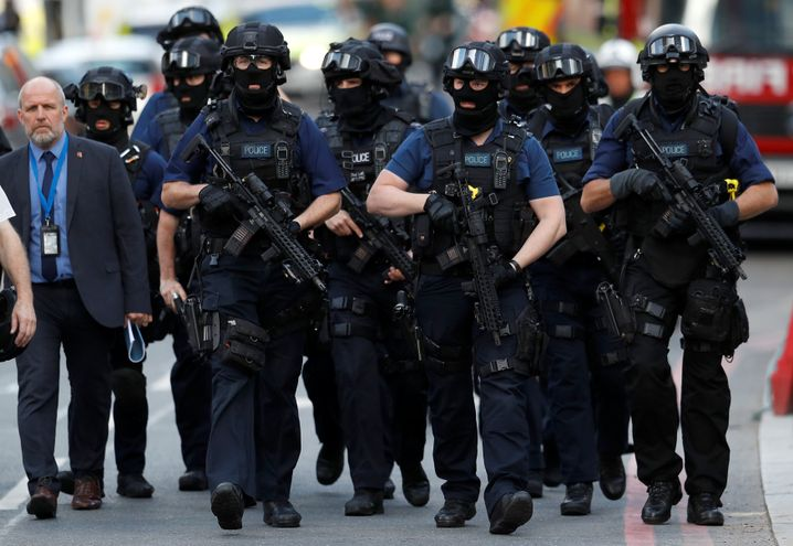 Polizisten in London