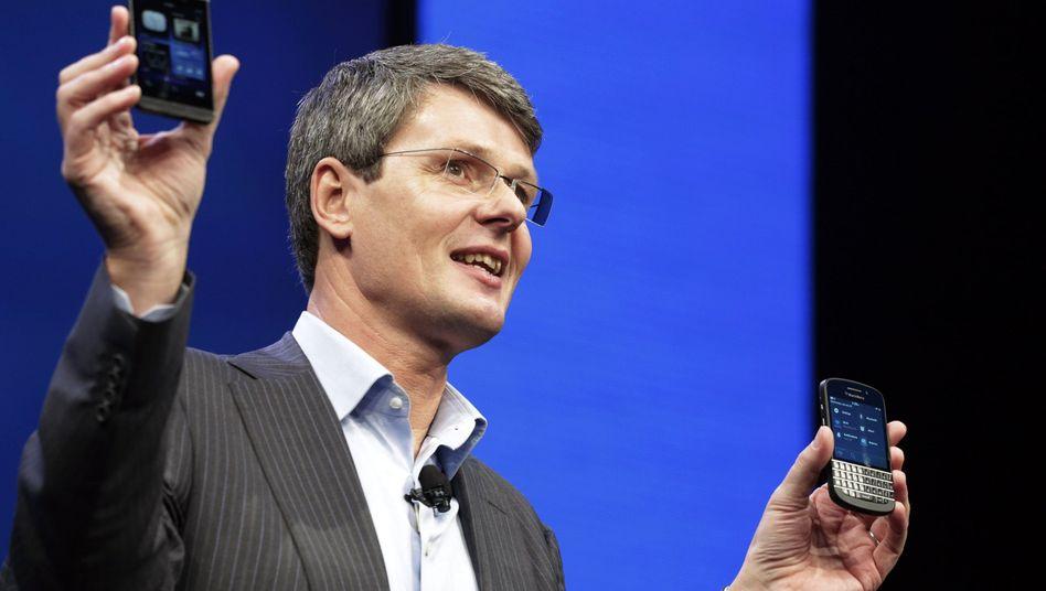Blackberry-Chef Heins (Januar 2013): Zukunftsalternativen auf dem Prüfstand